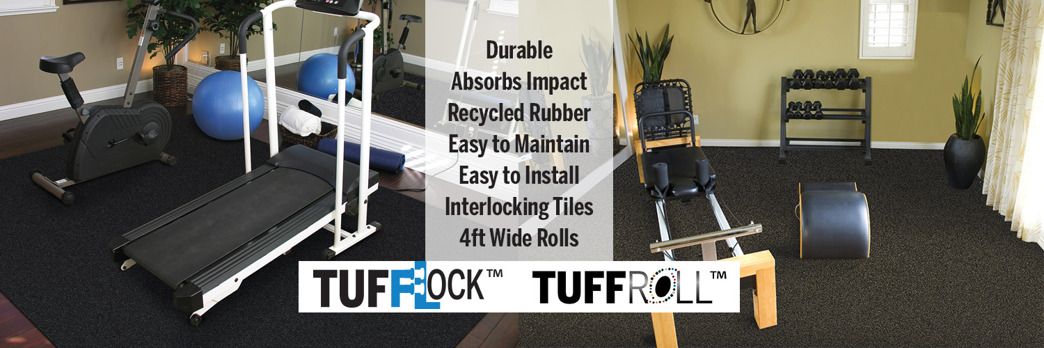 TuffLock TuffRoll Home gym flooring