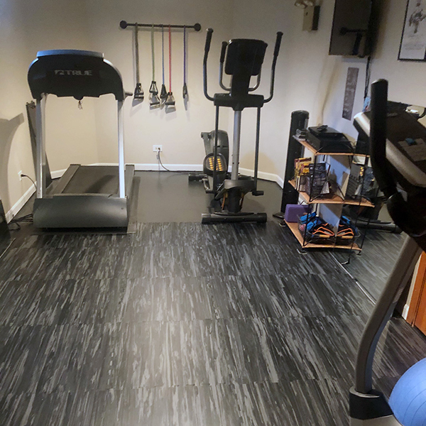 FitZone Home black marble flooring